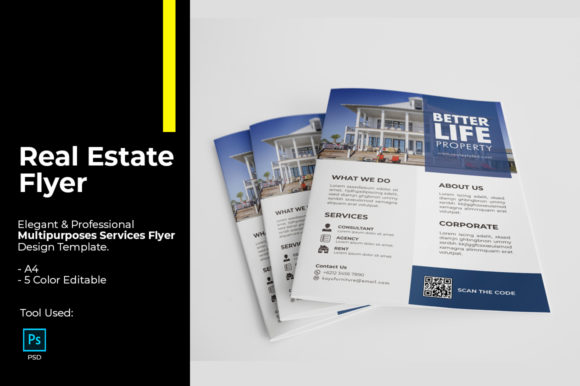 Real Estate Flyer Design Graphic Print Templates By tuangrafik