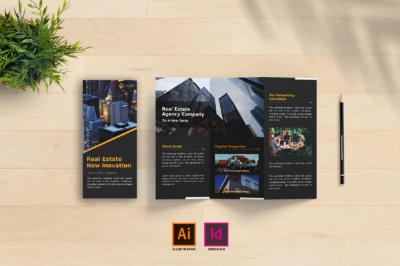 Real Estate Trifold Brochure Vol. 1 Graphic Print Templates By tuangrafik