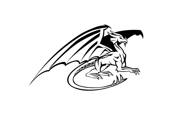 Download Free Realistic Dragon Black And White Svg Cut File By Creative for Cricut Explore, Silhouette and other cutting machines.