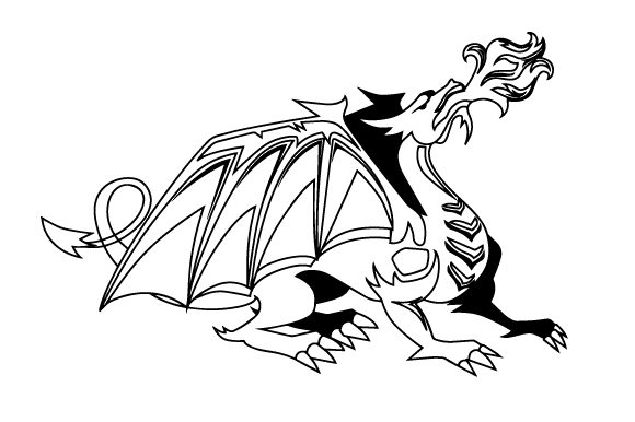 Download Free Realistic Dragon Breathing Fire Svg Cut File By Creative Fabrica for Cricut Explore, Silhouette and other cutting machines.