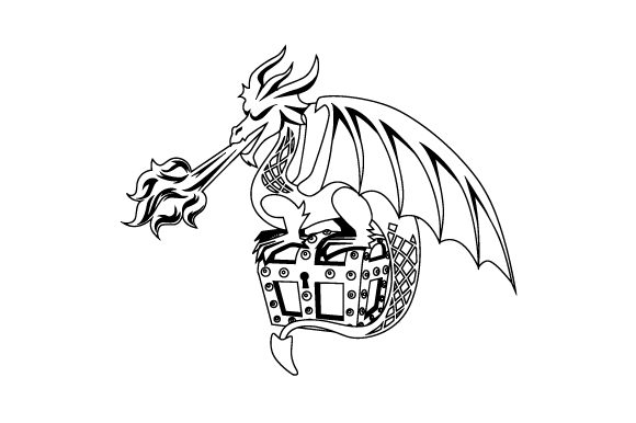 Realistic Dragon Guarding Treasure and Breathing Fire Craft Design By Creative Fabrica Crafts Image 2