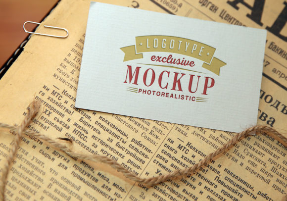 Print on Demand: Realistic Mock-ups on Vintage Background Grafik Produktmodelle von bywahtung