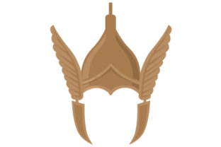Winged Viking Helmet SVG Cut file by Creative Fabrica Crafts