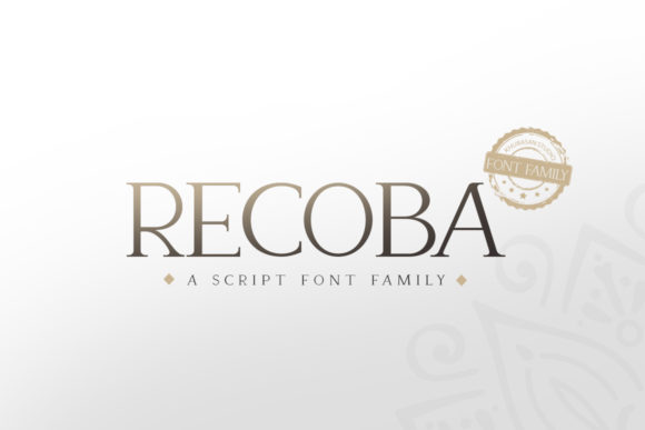Print on Demand: Recoba Serif Font By Khurasan