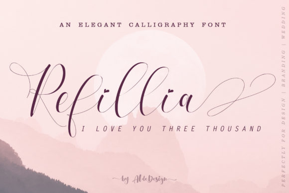 Print on Demand: Refillia Calligraphy Script & Handwritten Font By aldedesign