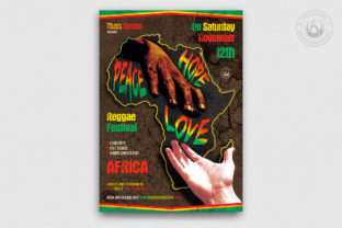 Reggae Africa United Flyer Template Graphic By ThatsDesignStore