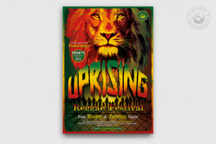 Reggae Uprising Flyer Template Graphic By ThatsDesignStore