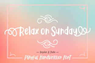 Relax on Sunday Font By Dani (7NTypes)