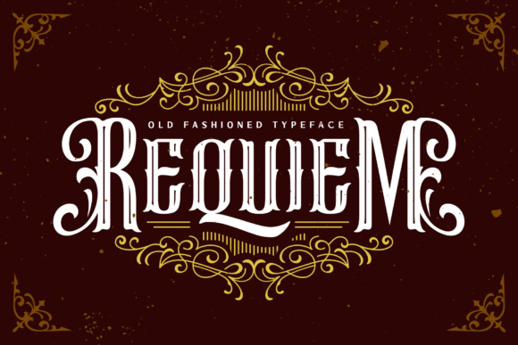 Print on Demand: Requiem Blackletter Font By Arterfak Project - Image 1