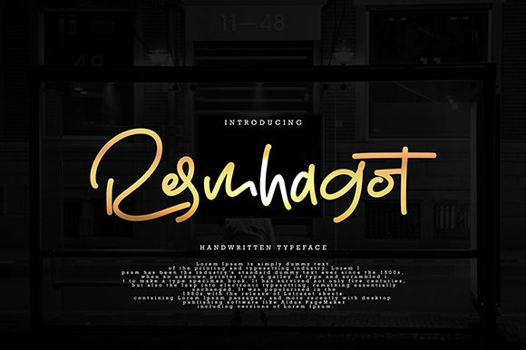 Print on Demand: Resmhagot Script & Handwritten Font By missinklab