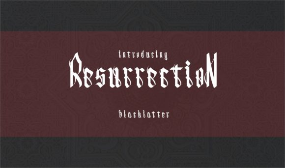 Resurrection Blackletter Font By esto type