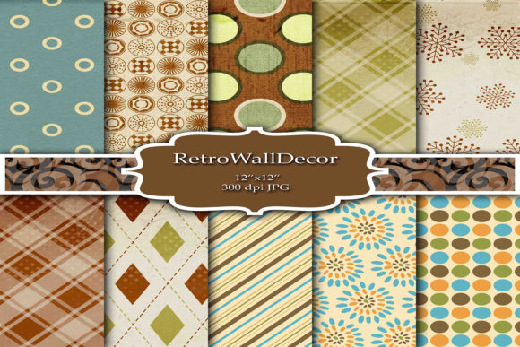 Retro Digital Papers Graphic By retrowalldecor