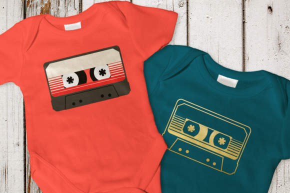Retro Striped Mix Tape SVG Graphic By DesignedByGeeks Image 1