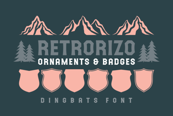 Print on Demand: Retrorizo Dingbats Font By Keithzo (7NTypes)