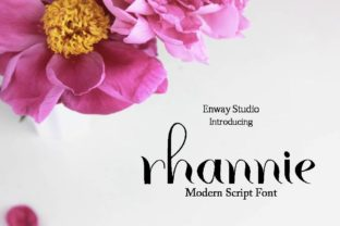 Print on Demand: Rhannie Script Script & Handwritten Font By enway