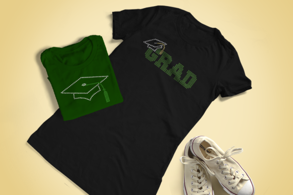 Download Free Rhinestone Graduation Cap Svg Templates Graphic By for Cricut Explore, Silhouette and other cutting machines.