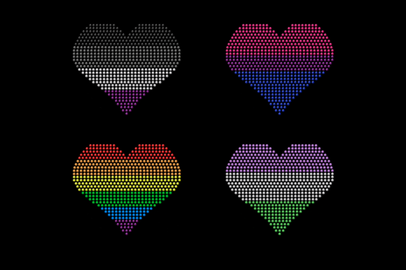Download Free Rhinestone Lgbt Hearts Svg Template Set Graphic By for Cricut Explore, Silhouette and other cutting machines.