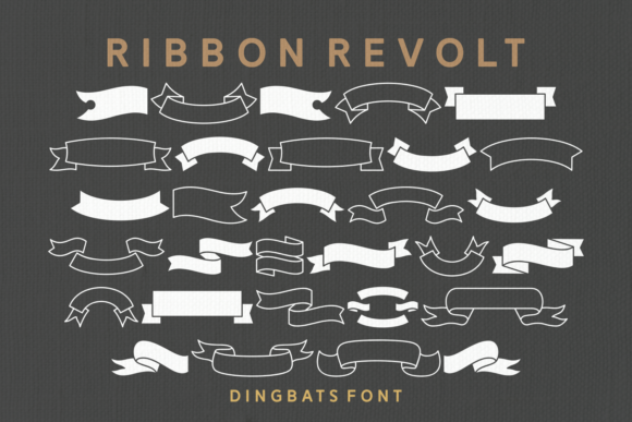 Print on Demand: Ribbon Revolt Dingbats Font By Keithzo (7NTypes) - Image 1