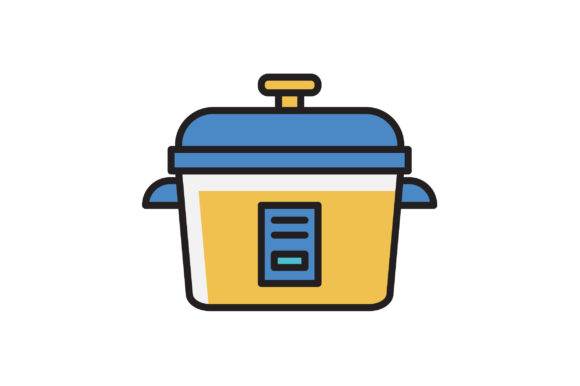 Download Free Rice Cooker Icon Graphic By Hellopixelzstudio Creative Fabrica for Cricut Explore, Silhouette and other cutting machines.