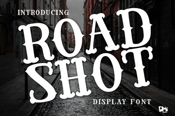 Road Shot Display Font By dmletter31