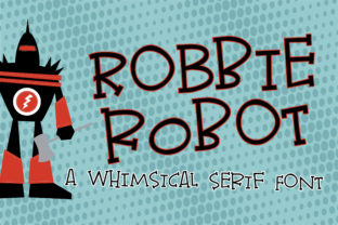 Robbie Robot Font By Illustration Ink