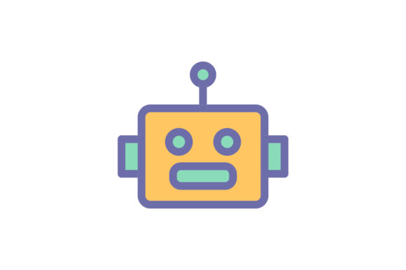 Download Free Robot Icon Graphic By Ahlangraphic Creative Fabrica for Cricut Explore, Silhouette and other cutting machines.