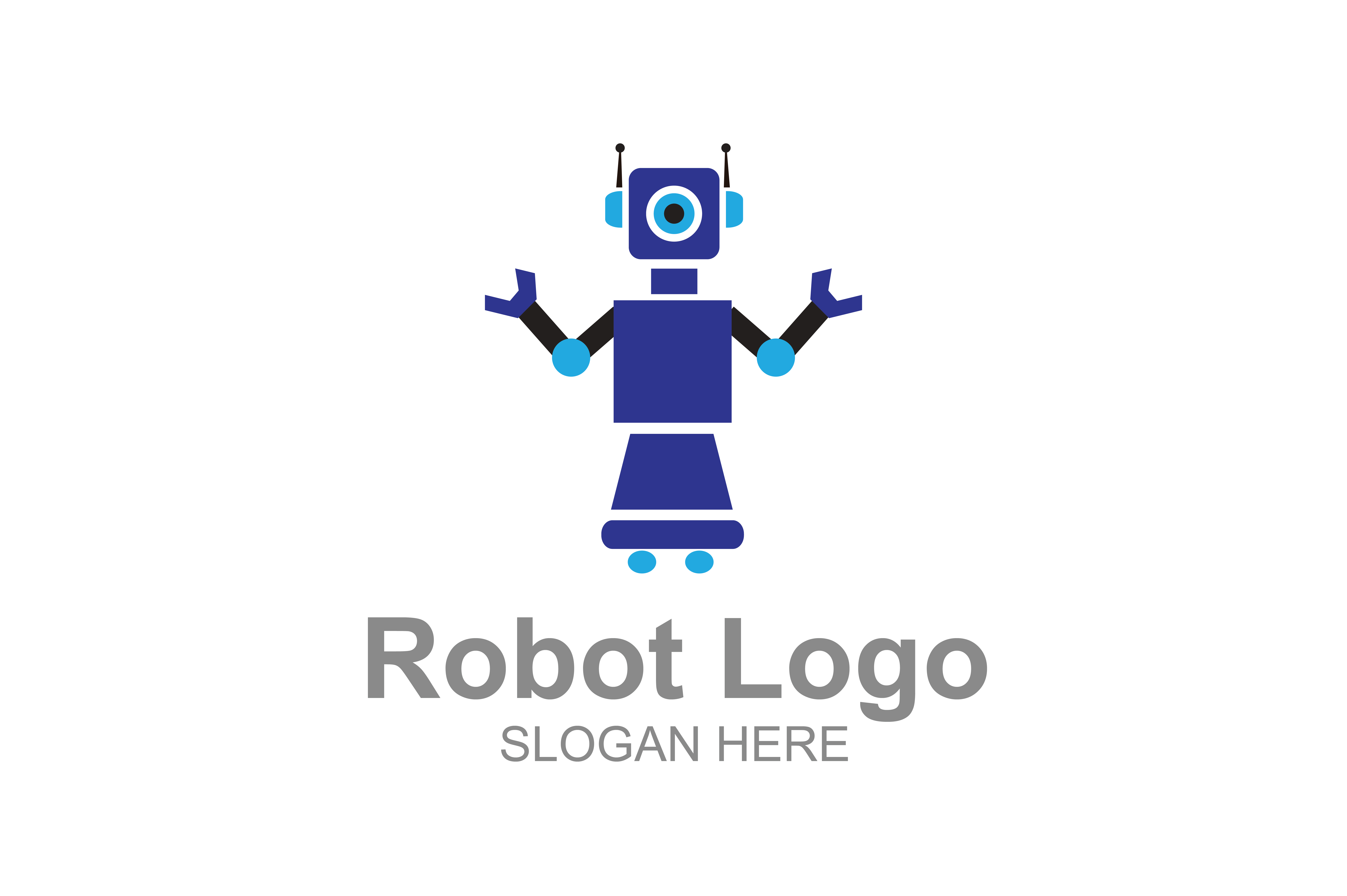 Download Free Robots Logo Graphic By Guardesign Creative Fabrica for Cricut Explore, Silhouette and other cutting machines.