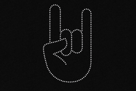 Download Free Rock On Hand Rhinestone Svg Template Grafico Por Designedbygeeks for Cricut Explore, Silhouette and other cutting machines.