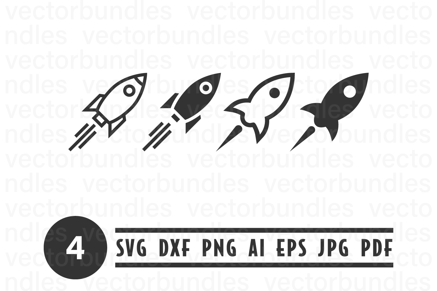 Rocket Launching Clip Art Svg Graphic By Vectorbundles