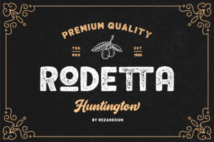 Rodetta Font By RezaDesign
