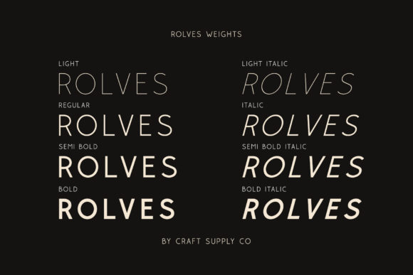 Print on Demand: Rolves Sans Serif Font By craftsupplyco - Image 3