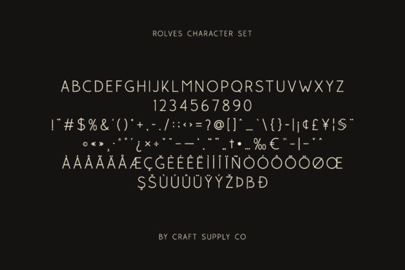 Print on Demand: Rolves Sans Serif Font By craftsupplyco - Image 5