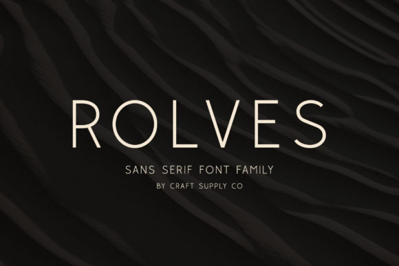 Print on Demand: Rolves Sans Serif Font By craftsupplyco