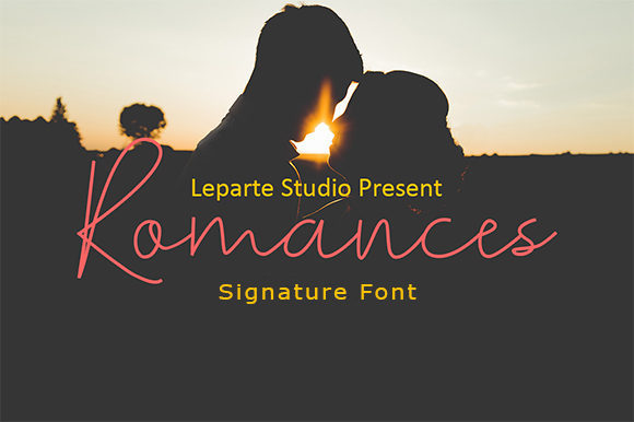 Print on Demand: Romances Script & Handwritten Font By leparte studio