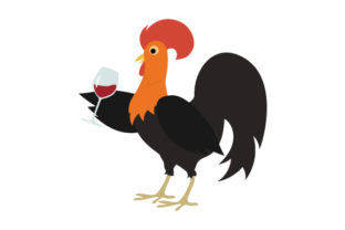 Rooster Holding Wine Craft Design By Creative Fabrica Crafts
