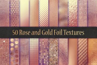 Rose Foil Textures Graphic By artisssticcc