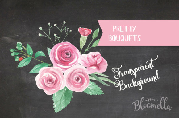 Rose Garden Watercolor 6 Bouquets Set Graphic By Bloomella Image 4