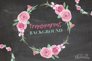 Rose Garden Wreaths Pink Set Watercolor Graphic Illustrations By Bloomella 6