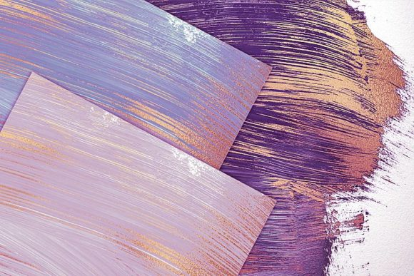 Print on Demand: Rose Gold Oil Paint & Abstract Backgroun Graphic Textures By Creative Paper - Image 2