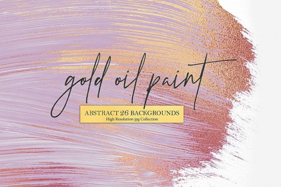 Print on Demand: Rose Gold Oil Paint & Abstract Backgroun Graphic Textures By Creative Paper