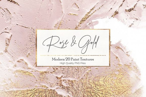 Print on Demand: Rose Gold Paint Backgrounds Graphic Brushes By Creative Paper - Image 1