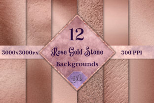 Rose Gold Stone Backgrounds - 12 Images Graphic By SapphireXDesigns