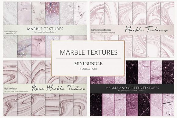 Rose Marble Digital Paper BUNDLE Graphic Backgrounds By Creative Paper