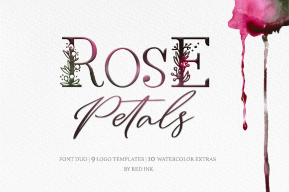 Print on Demand: Rose Petals Duo Script & Handwritten Font By Red Ink