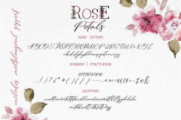 Rose Petals Duo Font By Red Ink Image 9