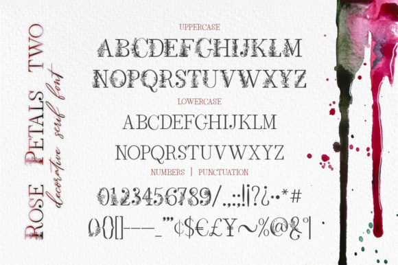 Rose Petals Duo Font By Red Ink Image 10