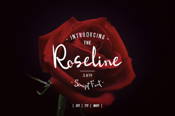 Print on Demand: Roseline Script Script & Handwritten Font By Zavira Mumtaz