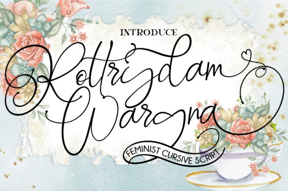 Print on Demand: Rottrydam Wargna Script & Handwritten Font By Fallengraphic
