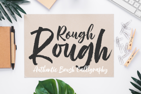 Print on Demand: Rough Rough Script & Handwritten Font By Situjuh