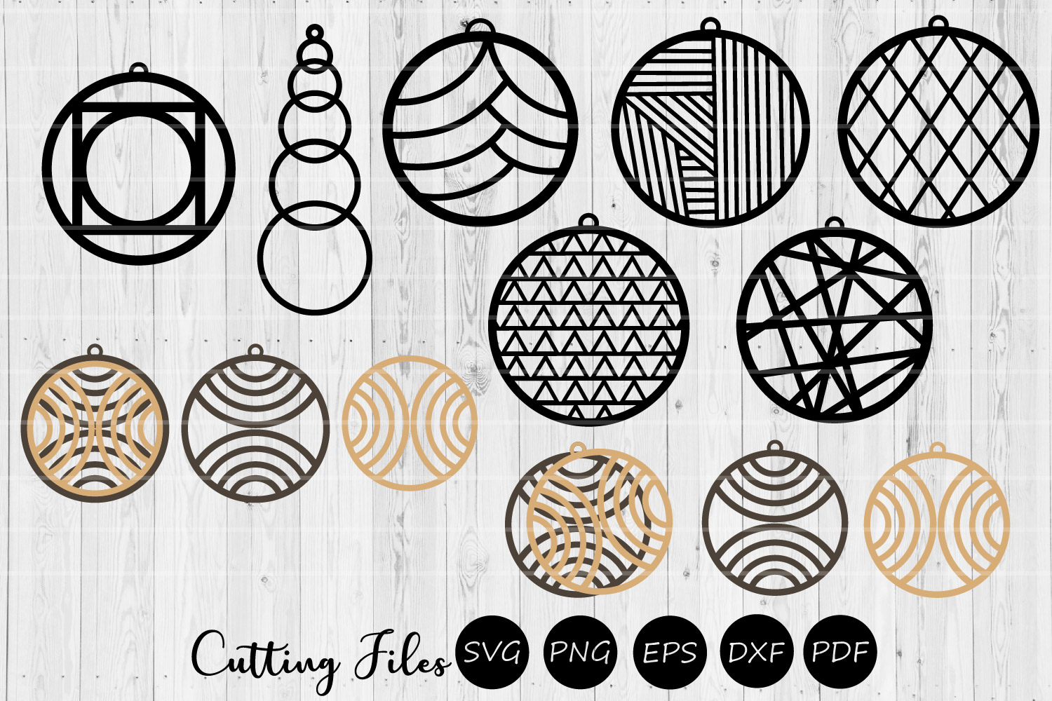 Download Free Round Earring Digital Designs Svg Graphic By Hd Art Workshop for Cricut Explore, Silhouette and other cutting machines.